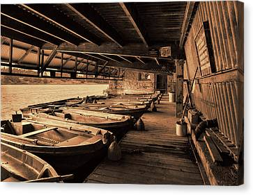 Canvas Print featuring the photograph The Boat House  by Scott Carruthers