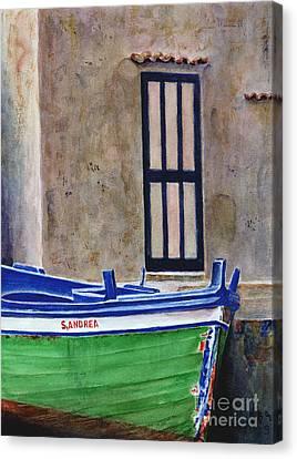 The Boat Canvas Print by Karen Fleschler
