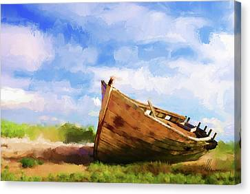 The Boat Canvas Print by Michael Greenaway