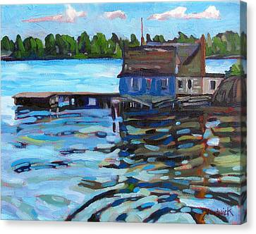 The Boathouse Of Zavicon Canvas Print by Phil Chadwick