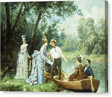 The Boating Party Canvas Print
