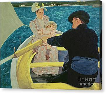 The Boating Party Canvas Print by Mary Stevenson Cassatt
