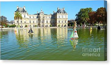 Toy Boat Canvas Print - The Boating Pond 2 by Alex Cassels