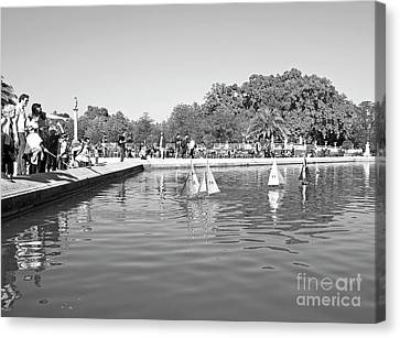 Toy Boat Canvas Print - The Boating Pond 3 by Alex Cassels