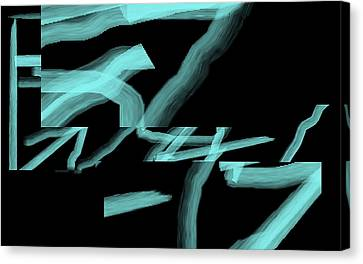 Canvas Print featuring the digital art The Bones Of Winter  by Cletis Stump