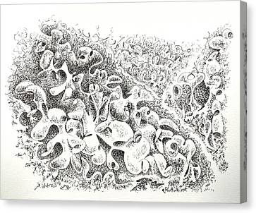 The Boneyard Of Unused Shapes Canvas Print by Dave Martsolf