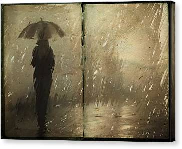 Alone Canvas Print - The Book Of Rain by H James Hoff
