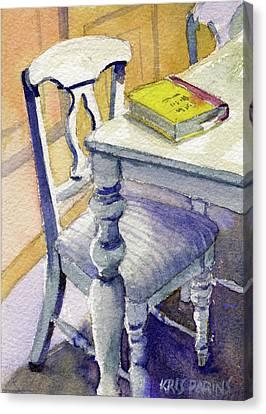 The Bookmark Canvas Print by Kris Parins