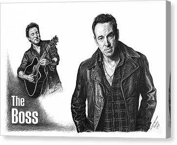 The Boss - Bruce Springsteen Canvas Print