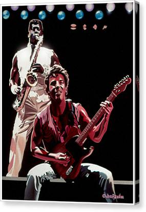 The Boss '85 Canvas Print by Joe Roselle