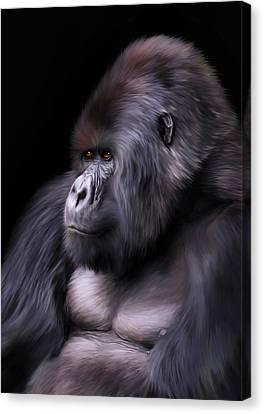 Ape Canvas Print - The Boss by Julie L Hoddinott