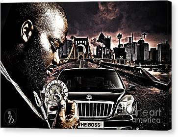 Rhythm And Blues Canvas Print - The Boss by The DigArtisT