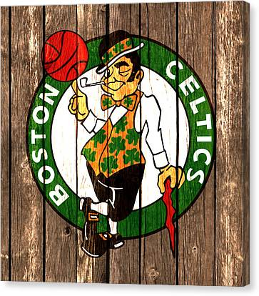 The Boston Celtics 2a Canvas Print by Brian Reaves