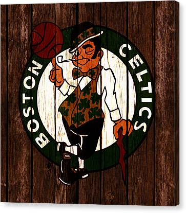The Boston Celtics 2c Canvas Print by Brian Reaves