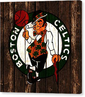The Boston Celtics 2d Canvas Print by Brian Reaves