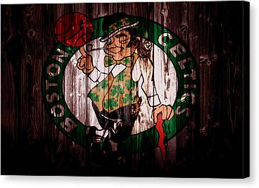 The Boston Celtics 5a Canvas Print by Brian Reaves