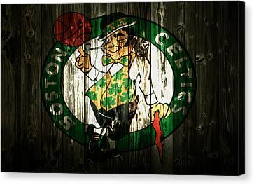 The Boston Celtics 5b Canvas Print by Brian Reaves