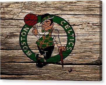 The Boston Celtics W1 Canvas Print by Brian Reaves