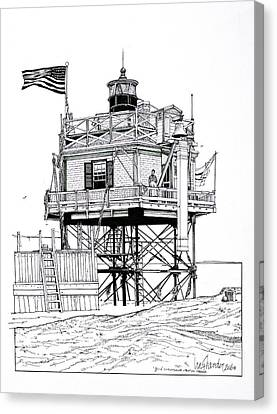 The Boston Narrows Lighthouse Canvas Print by Ira Shander