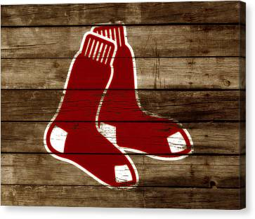 The Boston Red Sox W5 Canvas Print by Brian Reaves