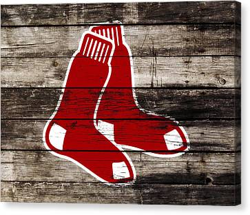 The Boston Red Sox W9   Canvas Print by Brian Reaves