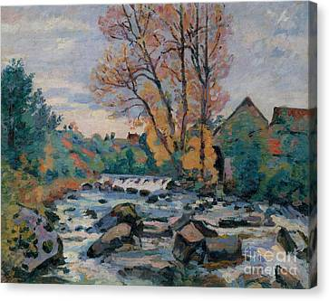 The Bouchardon Mill, Crozant Canvas Print by Jean Baptiste Armand Guillaumin