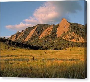 The Boulder Flatirons Canvas Print