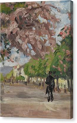 The Boulevards Canvas Print - The Boulevard by Arthur Haythorne Studd