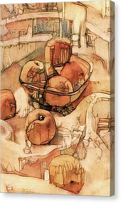The Bountiful Feast - Asian Pears Canvas Print