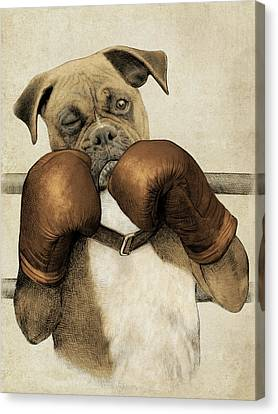 Boxer Canvas Print - The Boxer by Eric Fan
