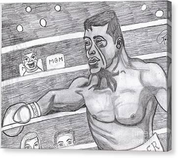 the Boxer Canvas Print by Richard Heyman
