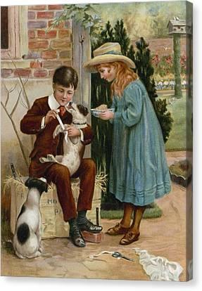 The Boy Doctor Canvas Print by English School