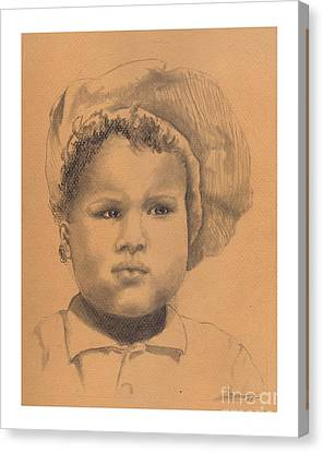 The Boy Who Hated Cheerios -- Portrait Of African-american Child Canvas Print