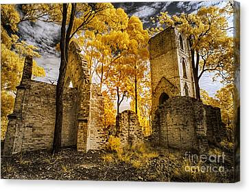 The Boydtown Church Canvas Print by Russ Brown