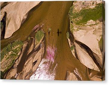 The Braided River Rovuma In The Dry Canvas Print by Michael Fay
