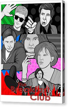 the Breakfast Club 30th anniversary Canvas Print by Gary Niles