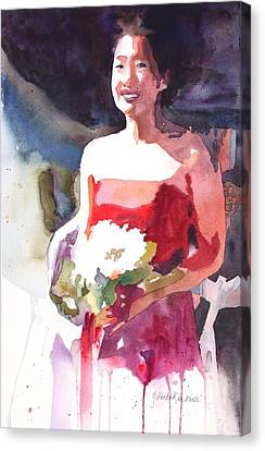 Canvas Print featuring the painting The Briadesmaid by Yolanda Koh