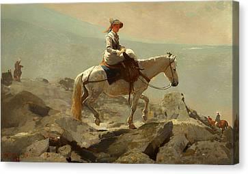 The Bridal Path - White Mountains Canvas Print by Mountain Dreams