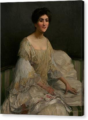 The Bride Canvas Print by Elizabeth Adela Stanhope Forbes