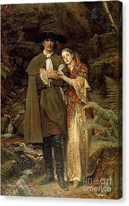 The Bride Of Lammermoor Canvas Print by Sir John Everett Millais