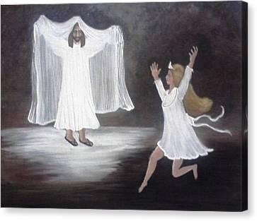 The Bridegroom Calls Canvas Print by Patty  Thomas