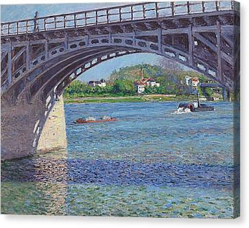 The Bridge At Argenteuil And The Seine Canvas Print