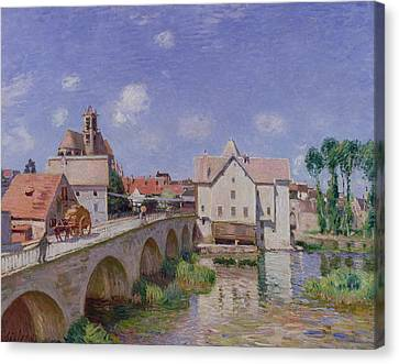 The Bridge At Moret Canvas Print by Alfred Sisley