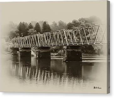 The Bridge At Washingtons Crossing Canvas Print by Bill Cannon