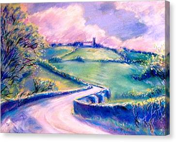 The Bridge Below Hacketstown  Canvas Print by Trudi Doyle