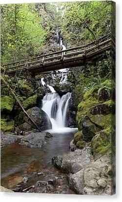 The Bridge Crossing Rodney Falls Canvas Print by Jeff Swan