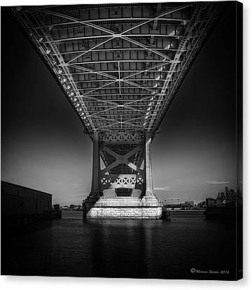 Ben Franklin Canvas Print - The Bridge by Marvin Spates