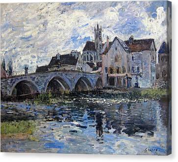 The Bridge Of Moret Canvas Print