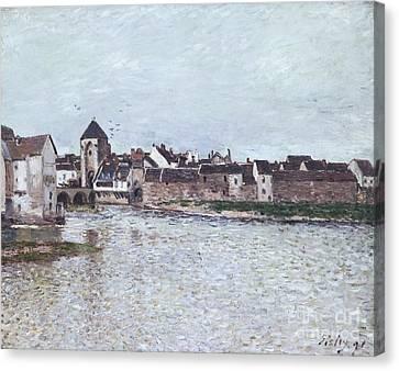 The Bridge Of Moret-sur-loing Canvas Print by Celestial Images