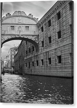 Canvas Print featuring the photograph The Bridge Of Sighs, Venice, Italy by Richard Goodrich